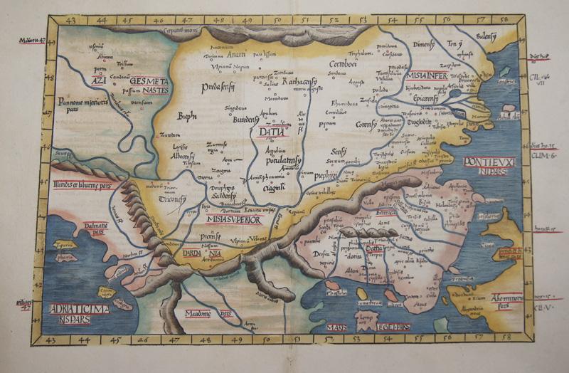 Ptolemy/ Fries  Europae tabula nona continet Iaziges Metanastas, Daciam, Mysiam superiorem..