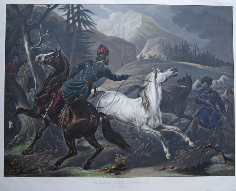 Vernet Antoine Charles Horace ( Carl) Chasse aux chevaux en Russie