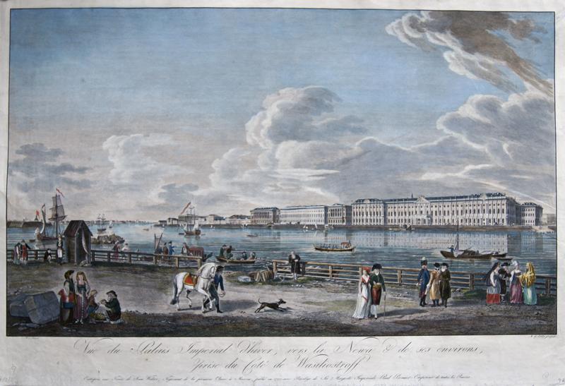 Eichler Matthias Gottried Vue du Palais Imperial d hiver, vers la Newa and de ses environs, prise du Cote de Wasiliostroff