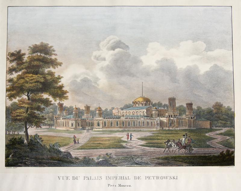 Engelmann  Vue du Palais Impérial de Petrowski