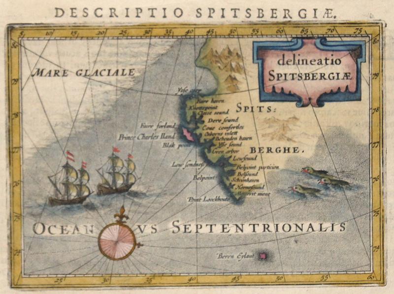 Bertius  Descriptio Spitsbergiae. Delineatio Spitsbergiae