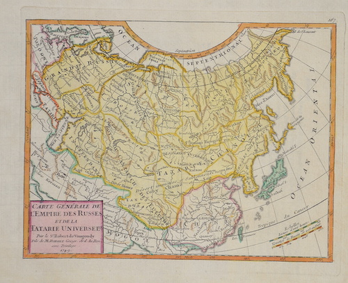 Vaugondy,de  Carte Generale de l'Empire des Russes et de la Tatarie Universelle.