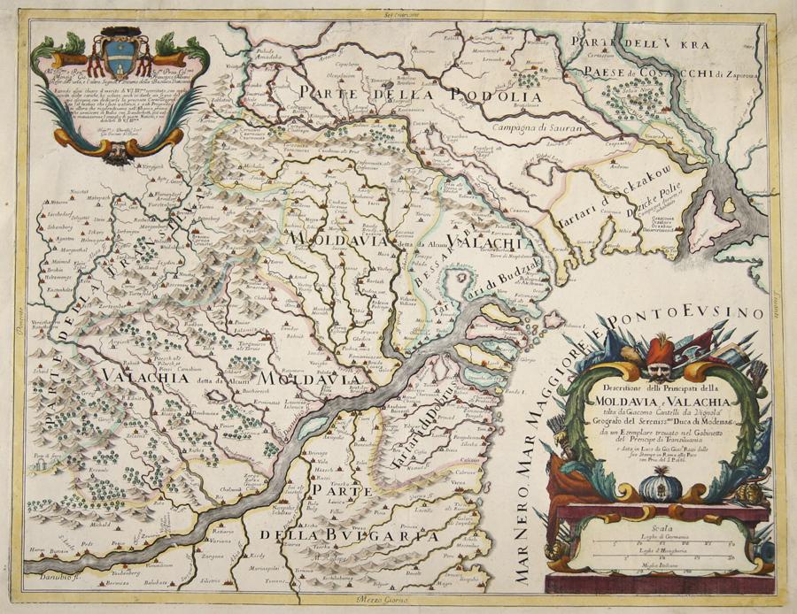 Cantelli da Vignola/Rossi  Descritione delli Principati della Moldavia, e Valachia tolta da Diacomo Cantelli da Vignola…