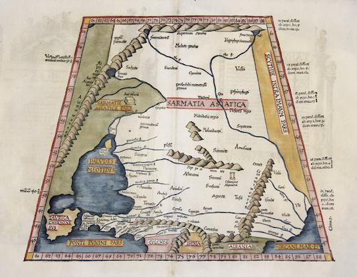Ptolemy/ Fries Claudius/ Laurent ( Lorenz) Tabula II Asiae