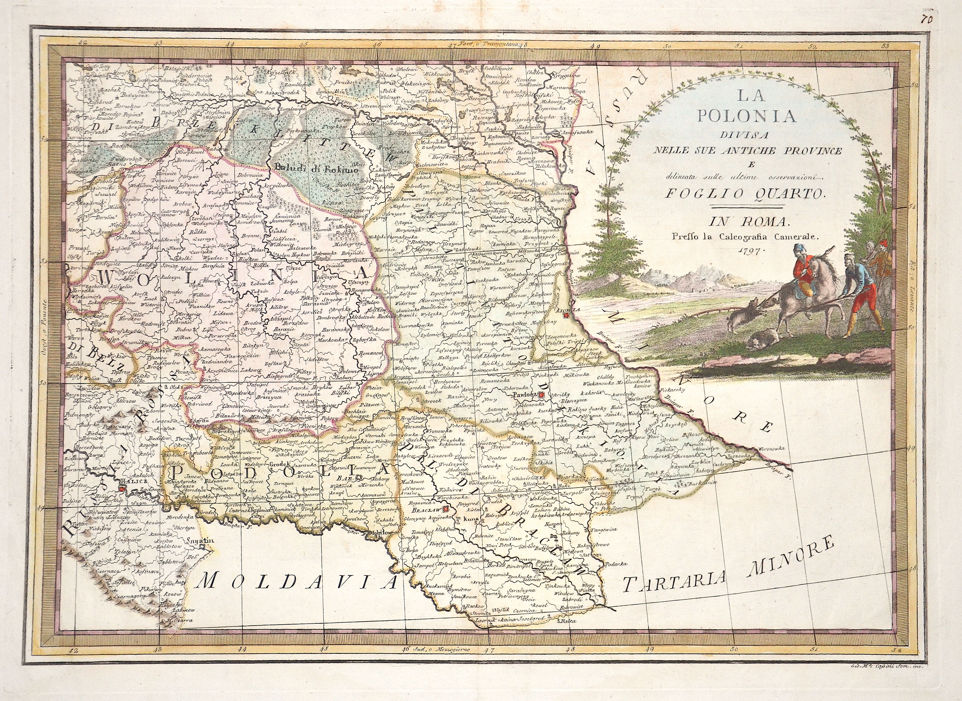 Cassini Giovanni Maria La Polonia divisa nelle sue Antiche Province