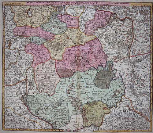 Seutter  Imperii Moscovitici pars Australis in lucem edita per Guillielmum…