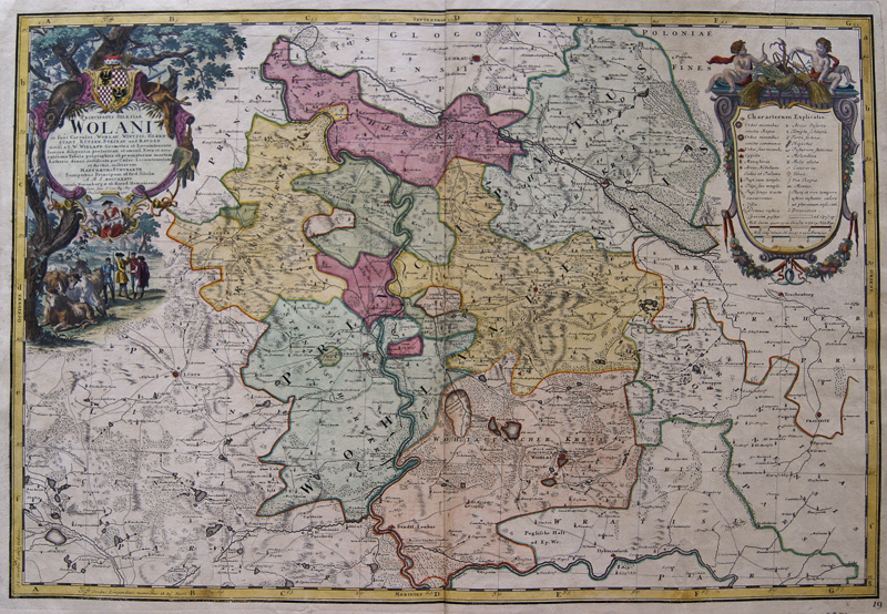 Homann Erben  Principatus Silesiae Wolani