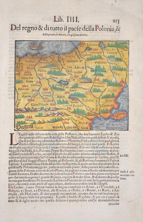 Münster Sebastian Lib.IIII Del regno & ditutto il Paese della Polonia, & delle provincie minori, che glisono attorno