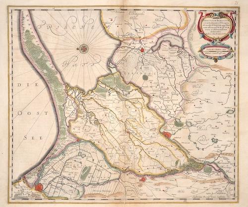 Janssonius  Tractuum Borussiae, circa Gedanum et Elbingam..