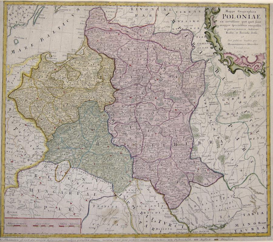 Homann Erben  Mappa Geographica  Poloniae ex novissimis quot quot sunt. Mappis specialibus composita in parte maiores..