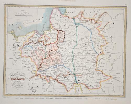 Thierry  Carte historique de la Pologne presentante ses divers demembrenens..