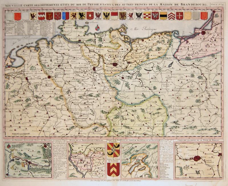 Chatelain  Nouvelle Carte des Differents etats du Roi de Prusse, et de Ceux des Autres Princes de la Maison de Brandebourg.