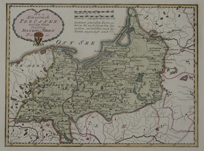 Reilly  Das Königreich Preussen mit den freien Städten Danzig u Thorn