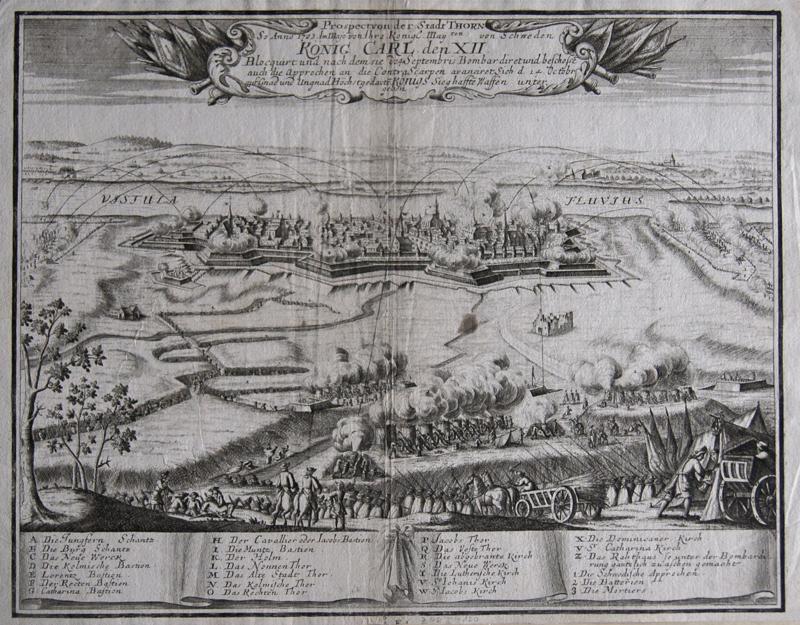 Anonymus  Prospect von der Stadt Thorn So Anno 1703. Im Majo von Ihr o Königl. May.ten von Schweden König Carl den XII.
