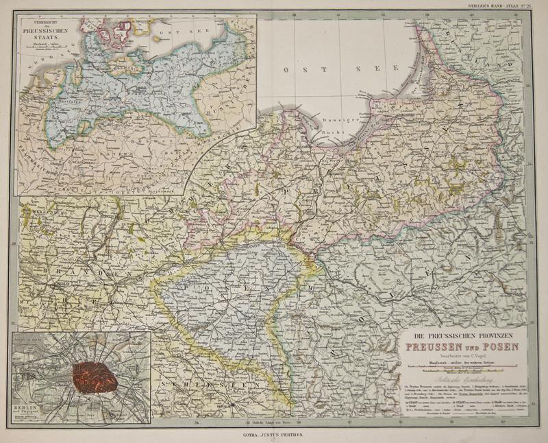 Perthes  Die preussischen Provinzen Preussen und Posen bearbeitet von C. Vogel.