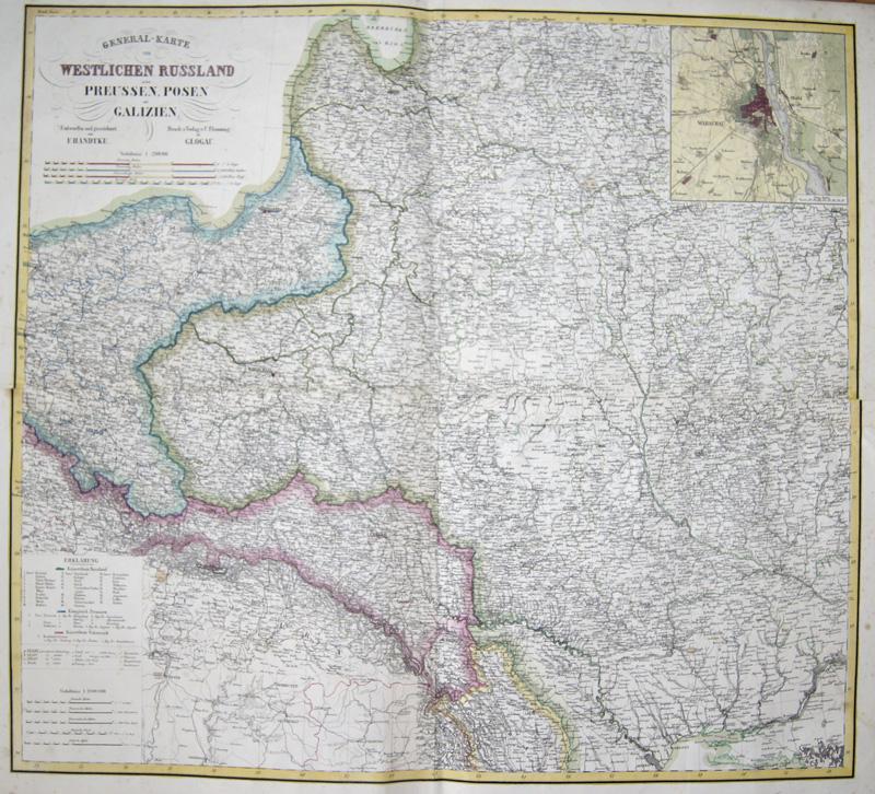 Flemming C. General-Karte Westlichen Russland Preusse, Posen und Galizien