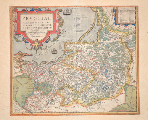 Ortelius  Prussiae regionis Sarmatiae Europeae Nobiliss. Vera et nova descriptio