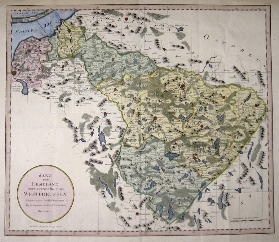Schraembl  Karte von Ermeland oder zweites Blat von Westpreussen
