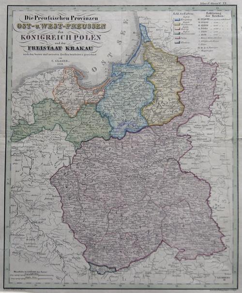 Glaser  Die Preussischen Provinzen Ost- u. West-Preussen das Königreich Polen und der Freistaat Krakau