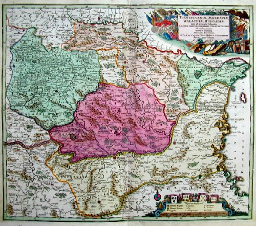 Seutter  Transylvaniae, Moldaviae, Walachiae, Bulgariae…