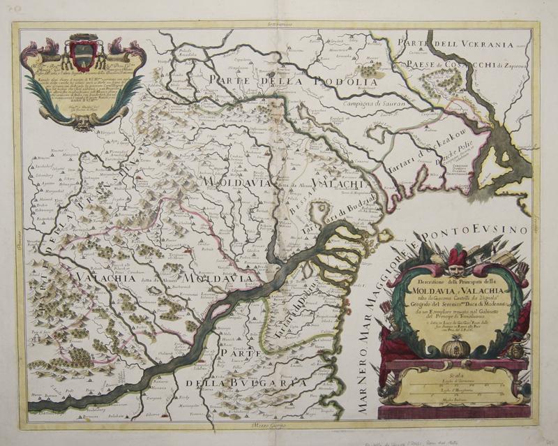Cantelli da Vignola  Descritione delli Principati della Moldavia, e Valachia tolta da diacomo Cantelli da Vignola..