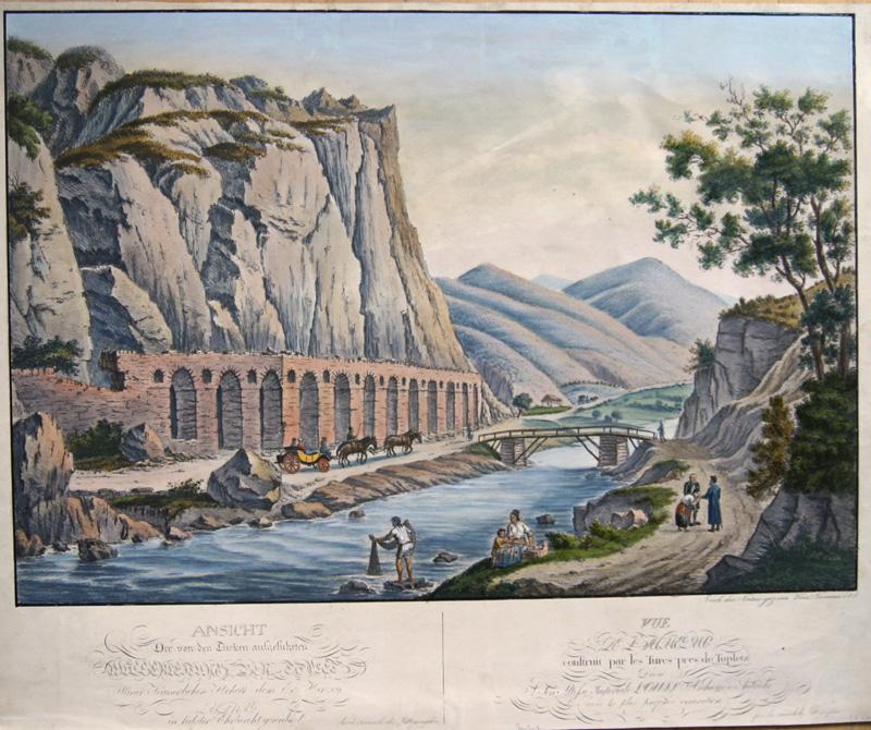 Neuman V. Ansicht der von den Türcken aufgeführten Wasserleitung bej Toplet…z/ Vue de l´Aqueduc construit par les Turcs pres de Topletz..
