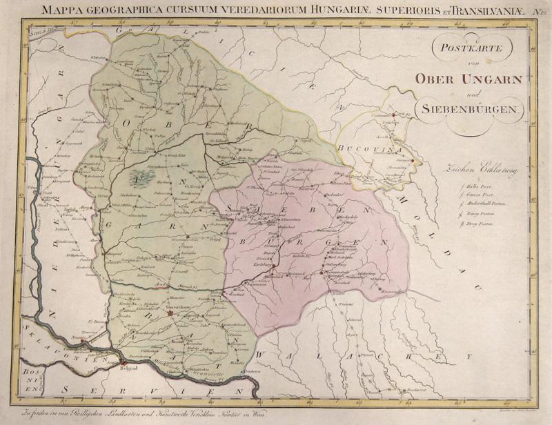 Reilly  Postkarte von Ober Ungarn und Siebenbürgen.