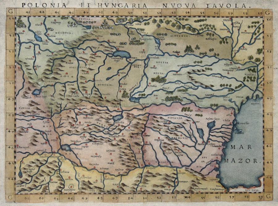 Ruscelli  Polonia et Hungaria nuova Tavola.