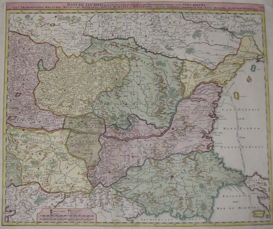 Homann  Danubii Fluminis hic ab urbe Belgrado, per Mare Nigrum …