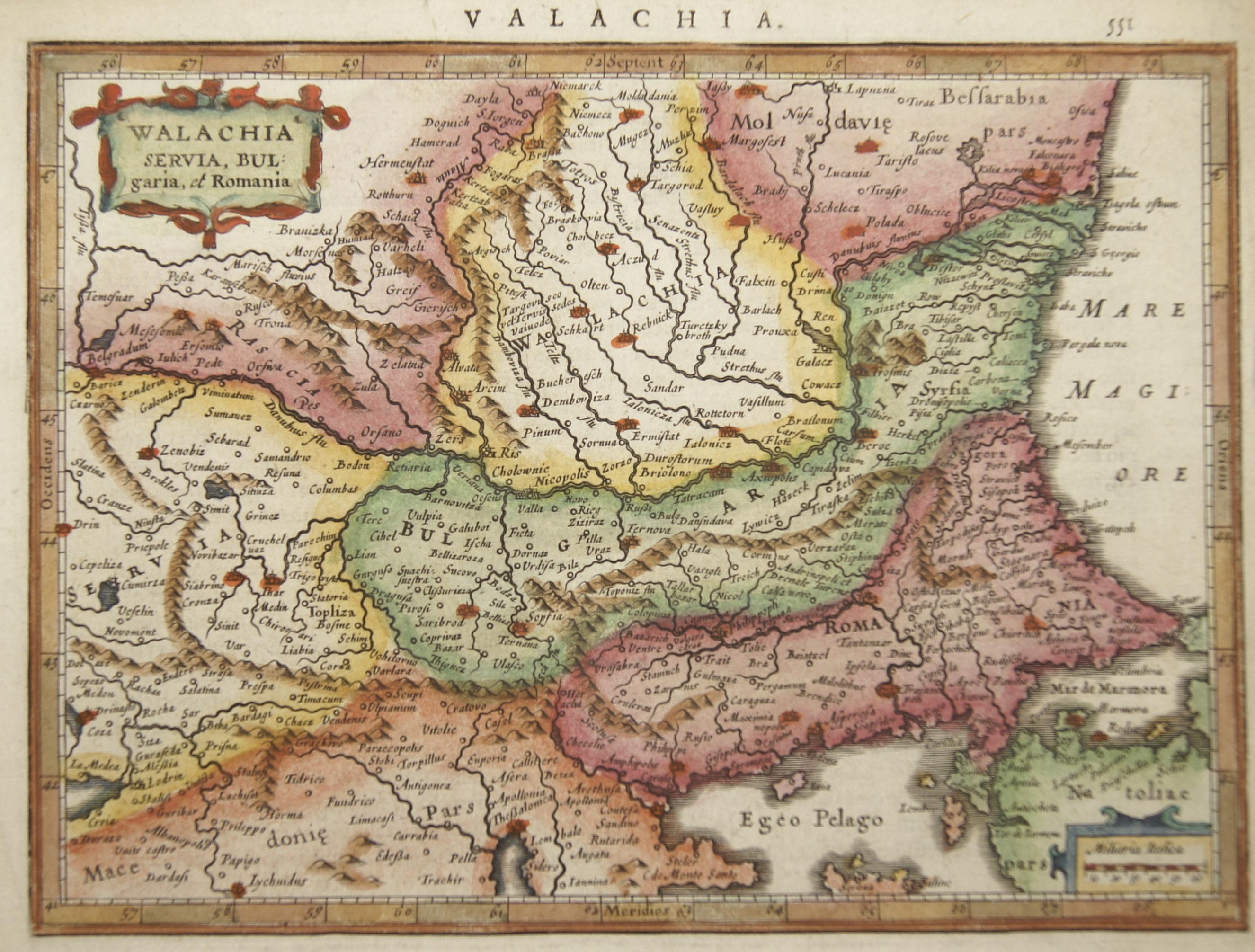 Mercator  Valachia Servia, Bulgaria, et Romania