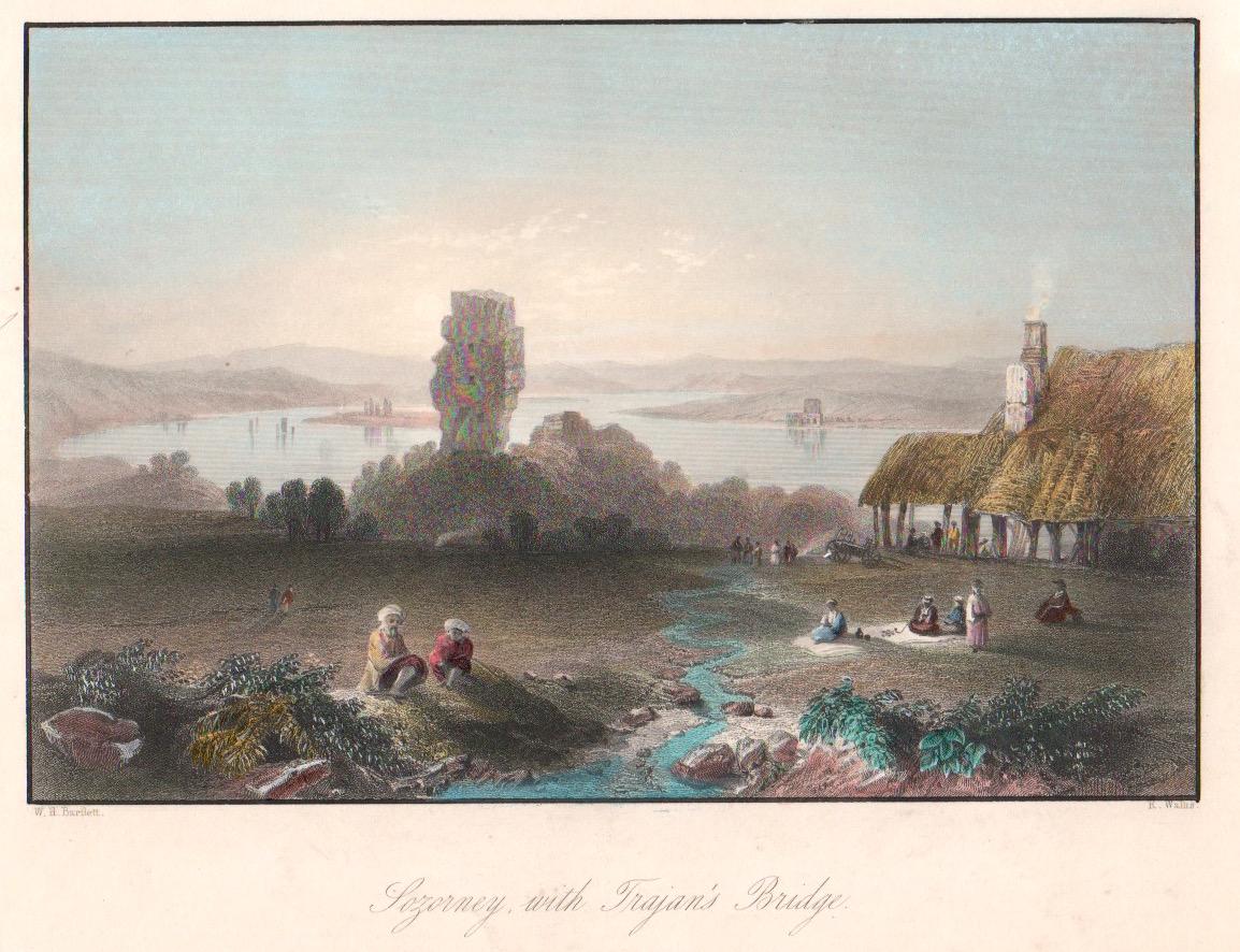 Wallis  Sozorney, with Trajan's Bridge.