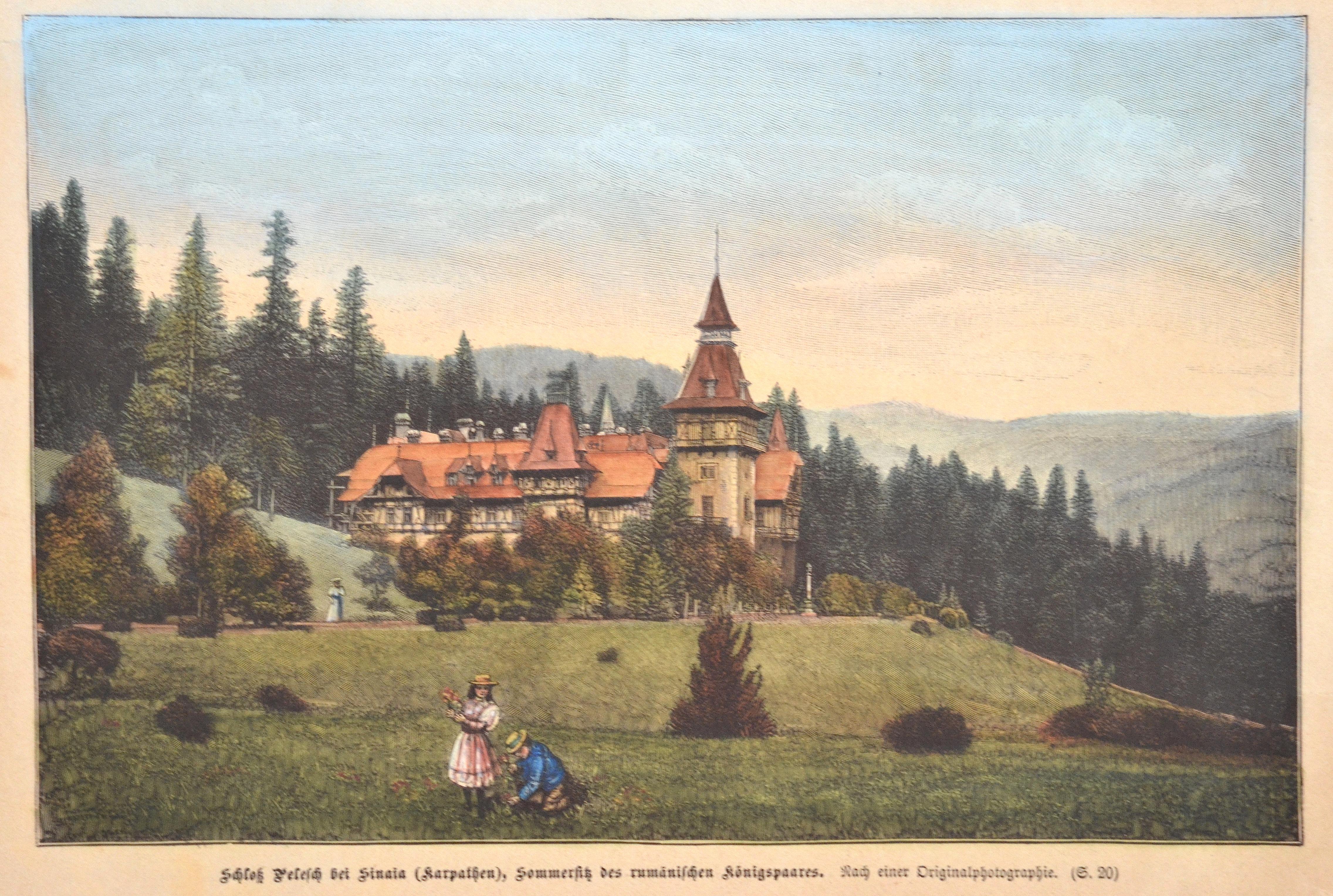 Anonymus  Schloß Pelesch bei Sinaia (Karpathen), Sommersitz des rumänischen Königspaares.