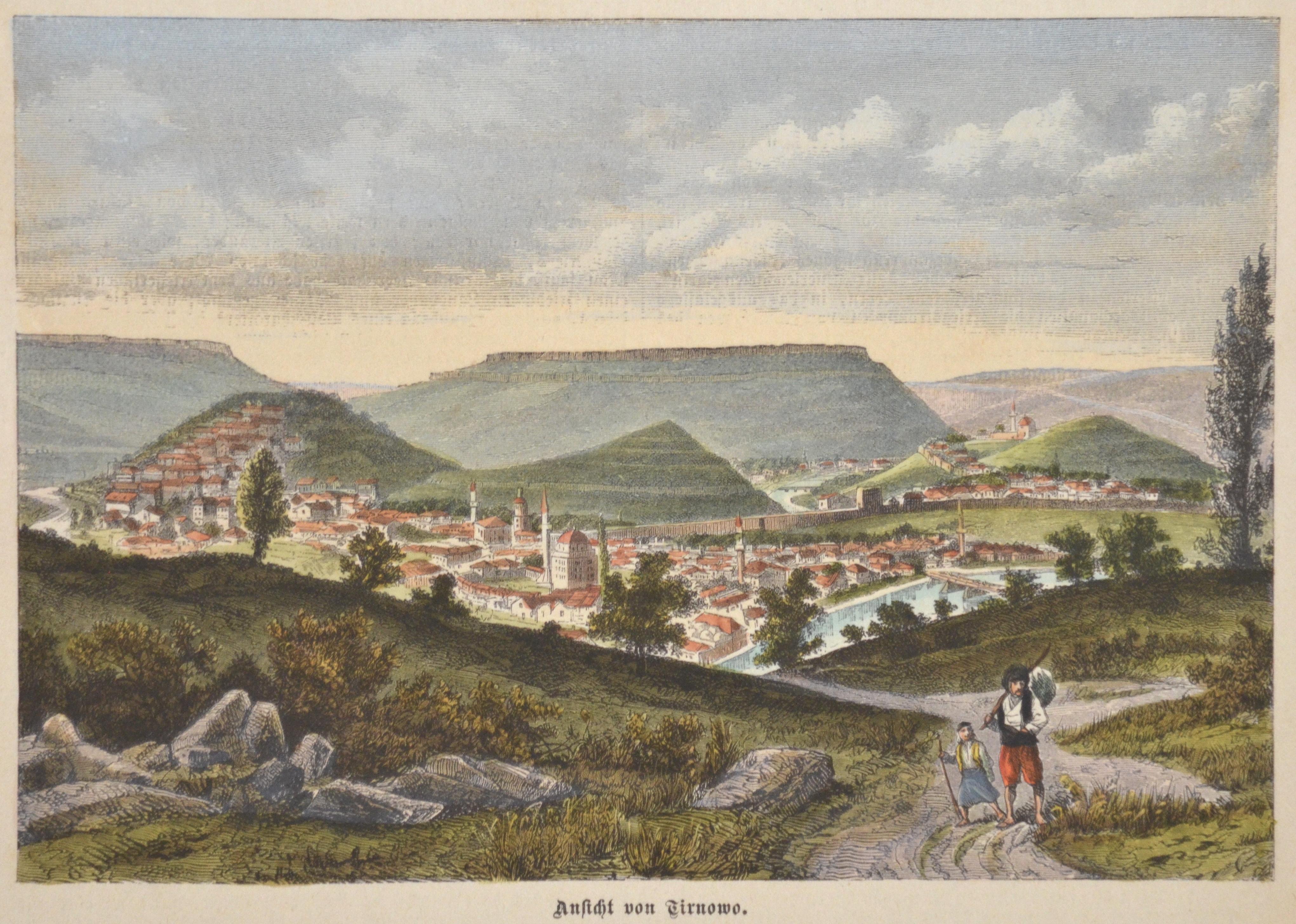 Anonymus  Ansicht von Tirnowo.