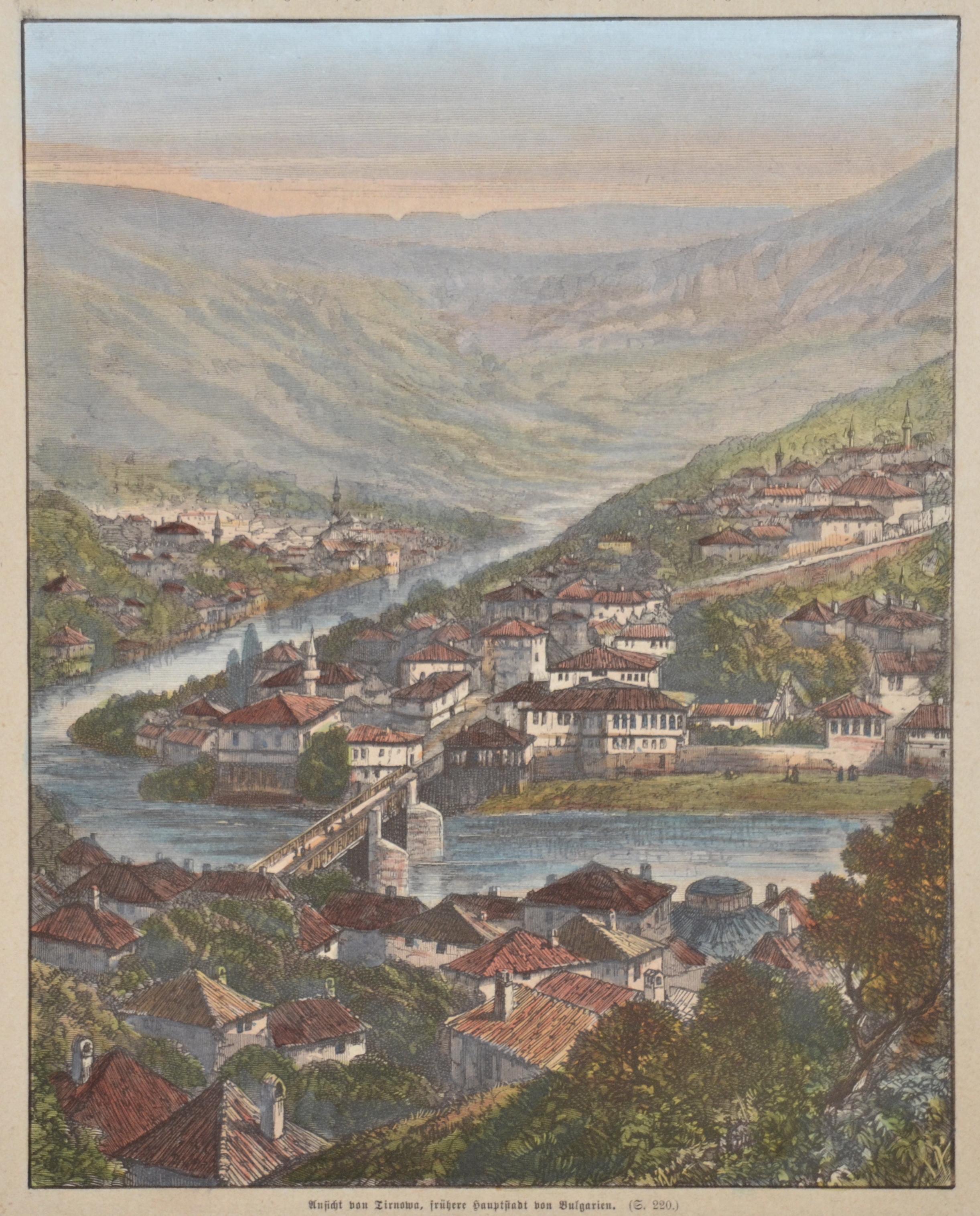 Anonymus  Ansicht von Tirnowa, frühere Hauptstadt von Bulgarien.