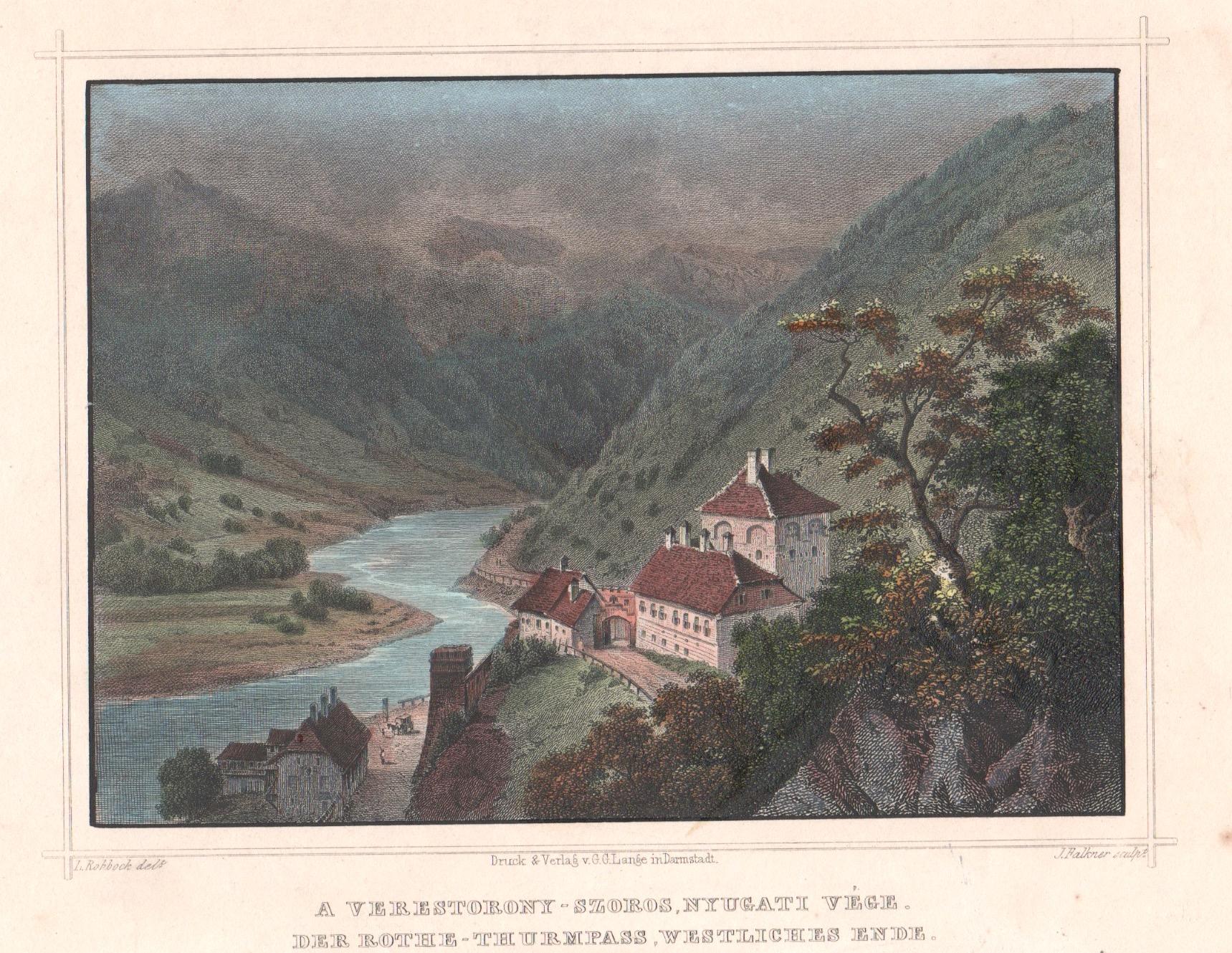 Falkner J. A Verestorony-Szoros, Nyugati Vége. Der Rothe-Thurmpass, westliches Ende.