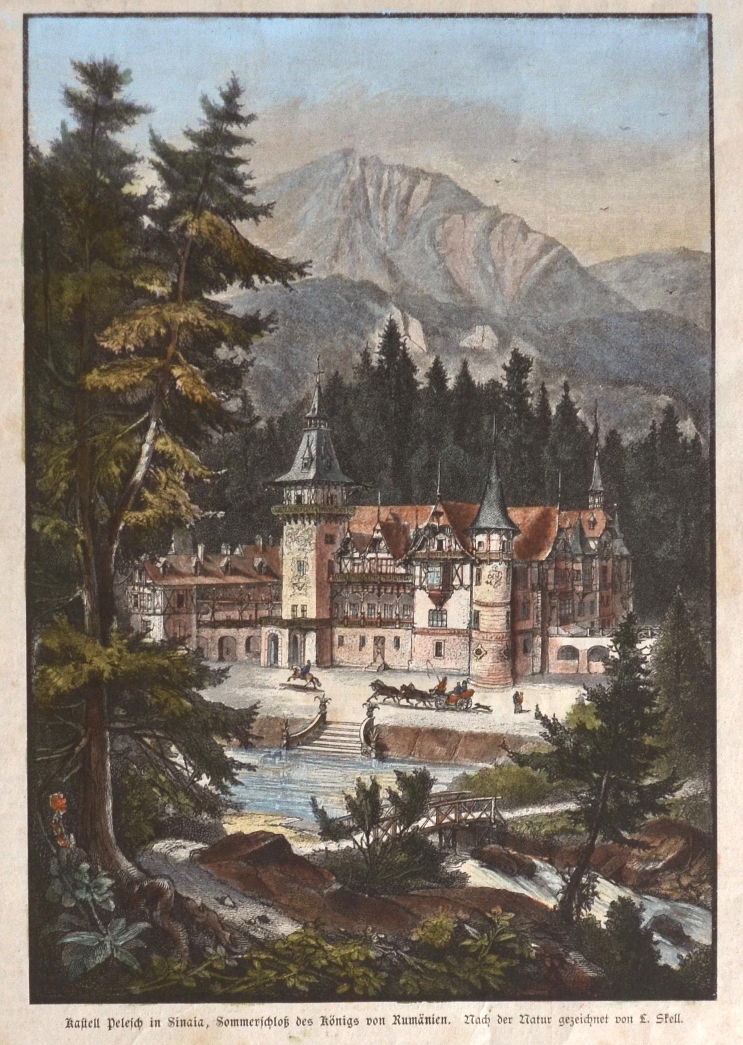 Skell Ludwig Kastell Pelesch in Sinaia, Sommerschloß des Königs von Rumänien.