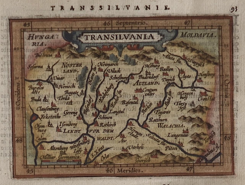 Ortelius  Transsilvanie. Transilvania
