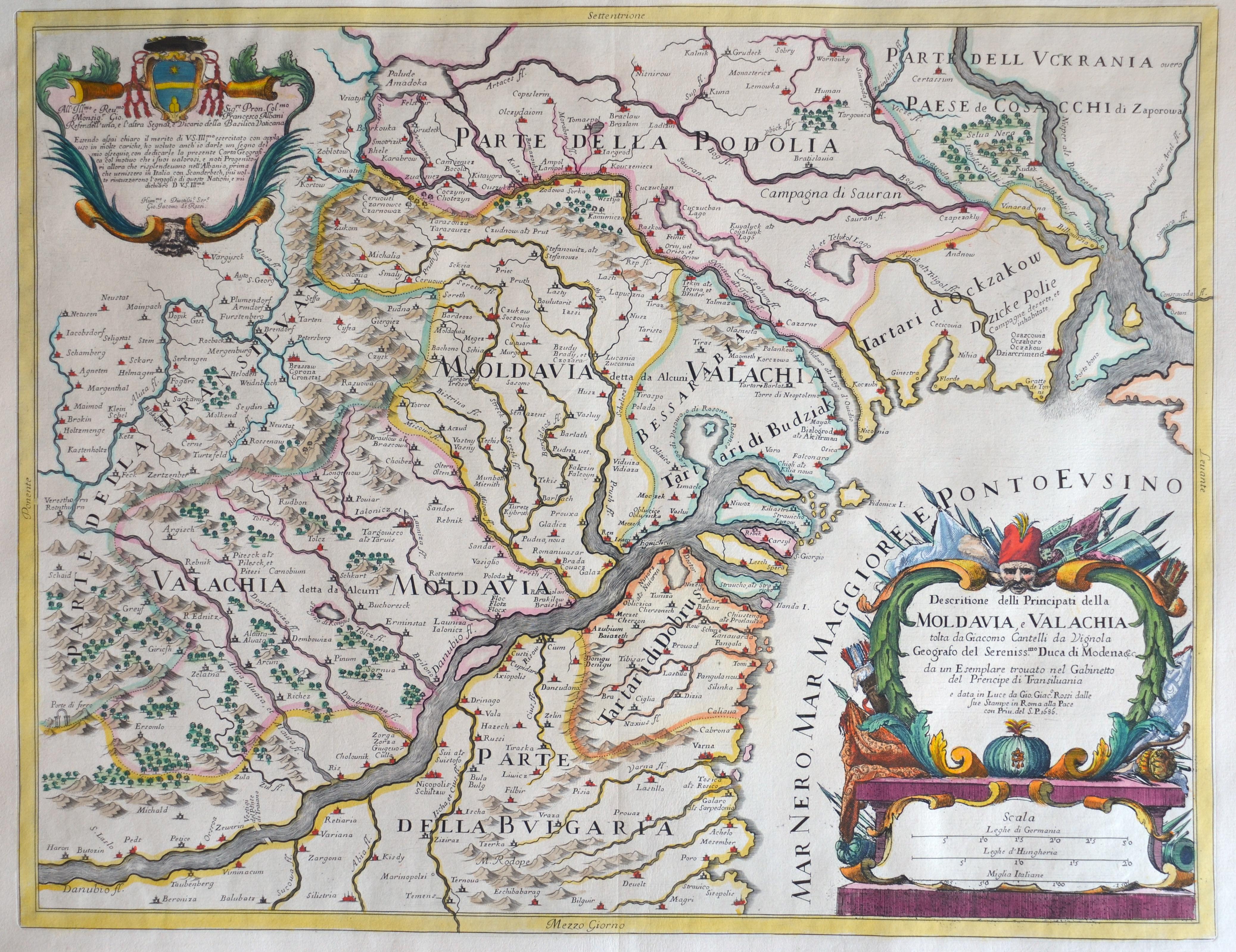 Cantelli da Vignola/Rossi G. / G. G. Descritione delli Principati della Moldavia, e Valachia tolta da diacomo Cantelli da Vignola..