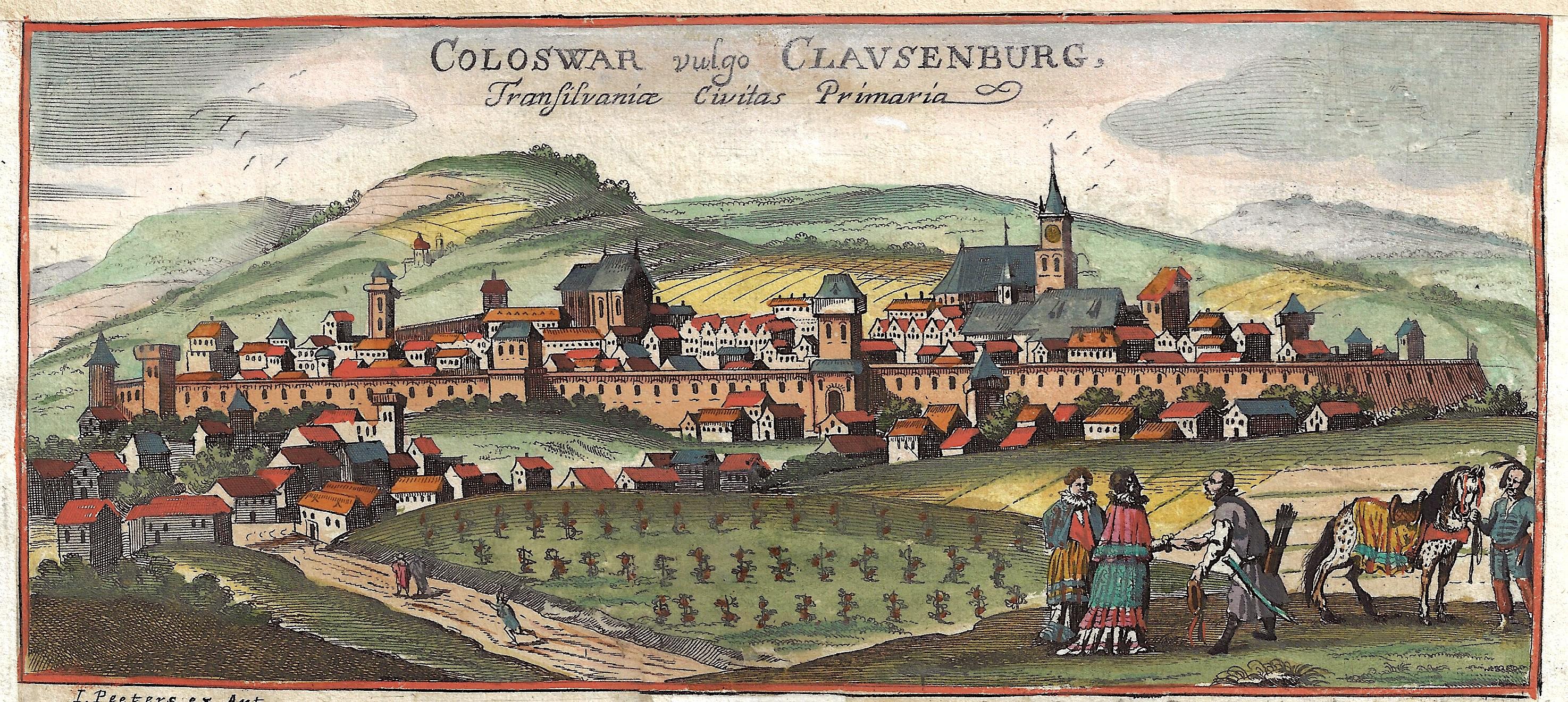 Peeters  Coloswar vulgo Clausenburg, Transilvaniae Civitas Primaria