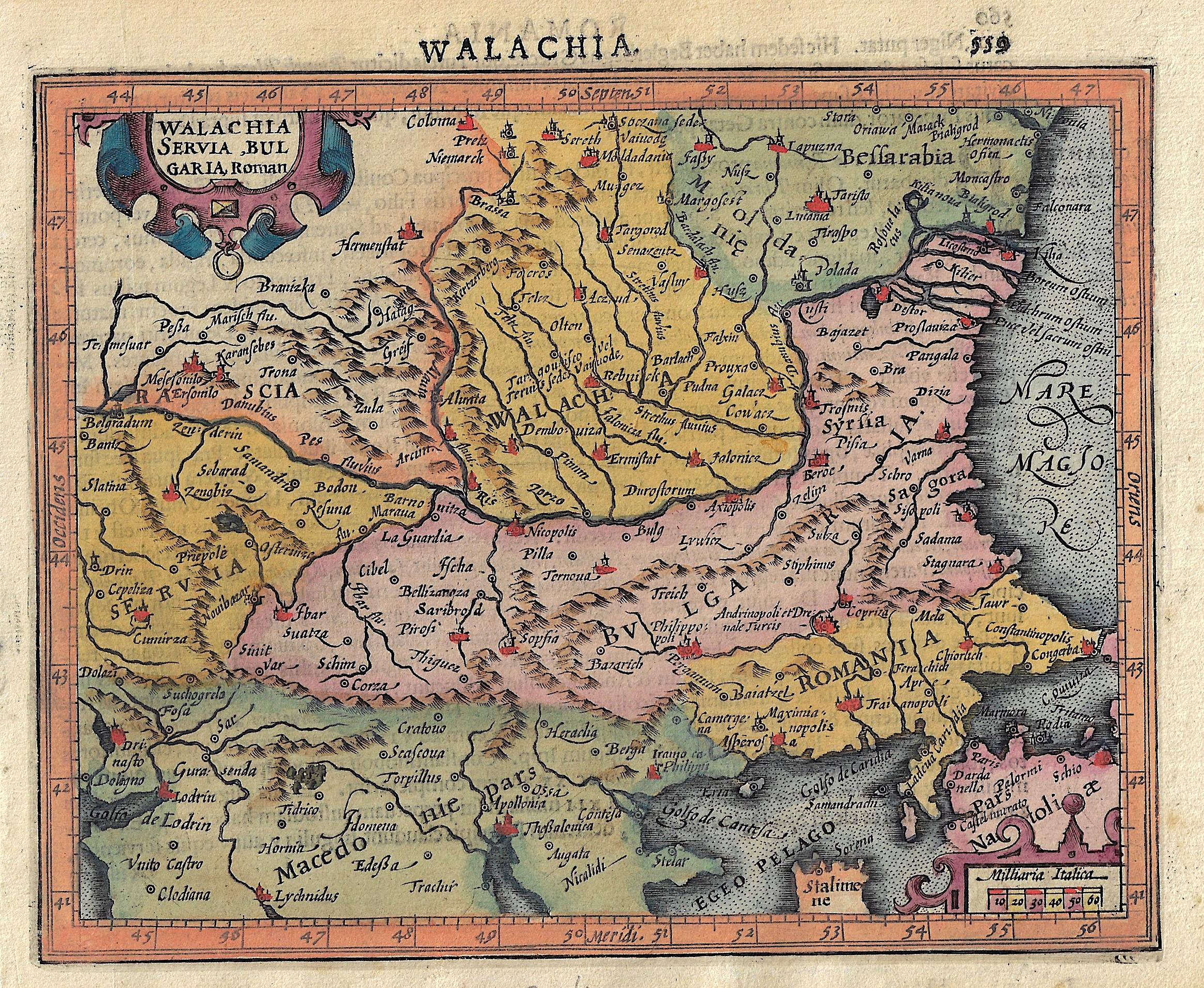 Mercator  Walachia Servia, Bulgaria, Roman