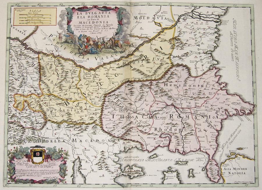Cantelli da Vignola Giacomo La Bulgaria e la Romania con Parte di Macedonia