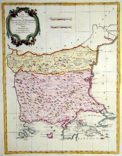Zatta  Le Provincie di Bulgaria, e Romelia
