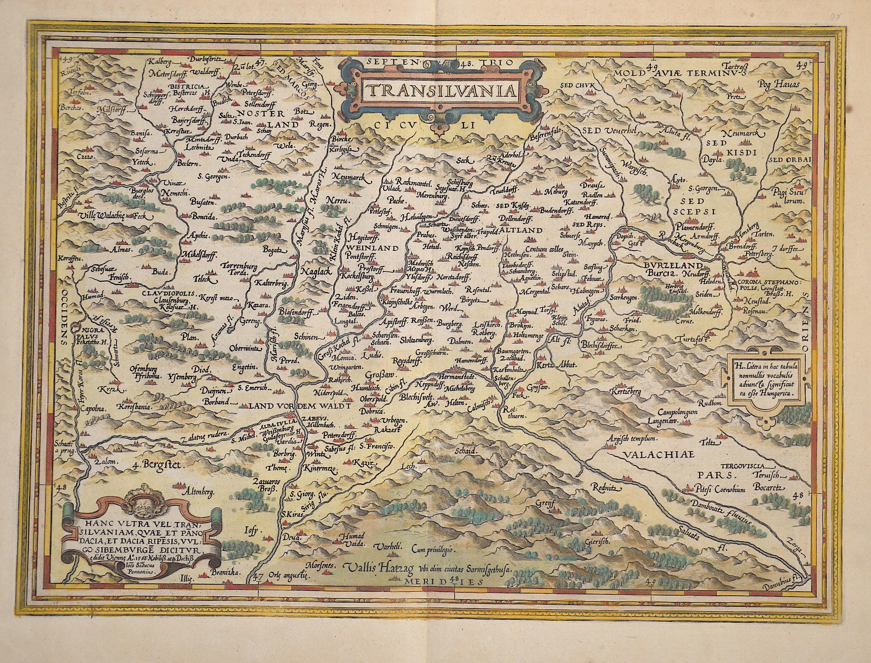 Ortelius Abraham Transilvania