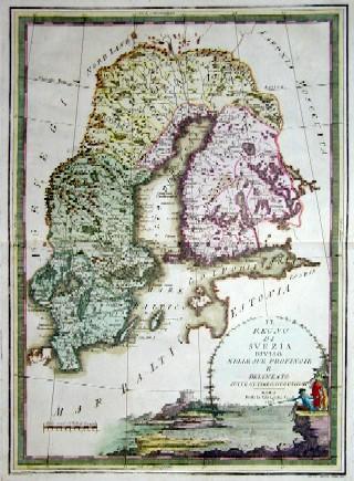 Cassini Giovanni Maria Il regno di Svezia diviso nelle sue Privincie e delineato