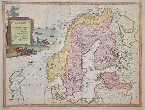 Zatta  Li regni di Swvezia, danimarca, et Norvegia con le confinanti Provincia Russe della Carelia Ingria e Livonia