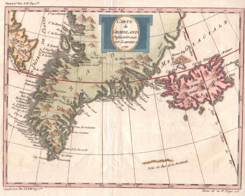 Lauent  Carte du Groenland