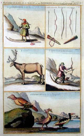 Anonymus  Maniere d´Aller a la chassé et des differents animaux de Laponie