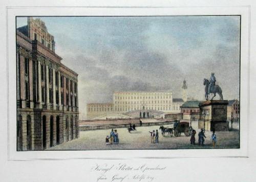 Scheele  Kongl. Slottet och Operahuset ifran Gustav Adolfstork