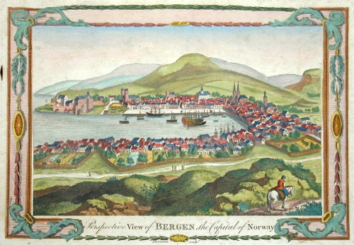 Thornton  Perspective view of Bergen, the Capital of Norway