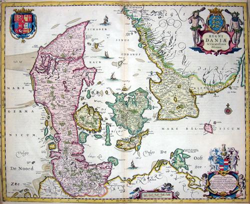 Janssonius/Mercator-Hondius, H.  Regni Daniae accuratissima delineatio